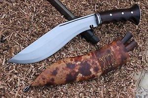 """10"""" Full Tang Angkhola Kukri,Farmer Working knife,Khukuri,Hand Forged EGKH Blade"""