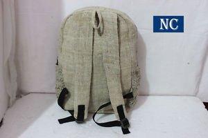 Nepali Handmade Pure Hemp Rasta Backpack with Laptop Sleeve -Fashion Cute Travel
