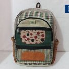Pure Hemp Multi Pocket Canvas Backpack Handmade Nepal with Laptop Sleeve, Bag