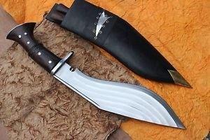 """12"""" 5 Fullers kukri,Hand Forged Full Tang Farmer Blade, EGKH Nepal Khukuri Knife"""