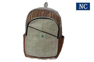 Pure Himalayan Natural Hemp Backpack Handmade Nepal with Laptop Sleeve - Fashion