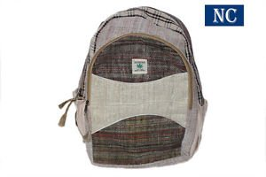 Himalayan 100% Hemp Backpack with Laptop Sleeve -Handmade In Nepal Shoulder Bag