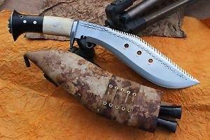 "10"" Dragon Survival Kukri, EGKH Khukuri, Nepal Hand Forged Blade Knife Supplier"