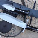 "10"" Black Horn Bowie and Companion Combo Knife, EGKH Nepal Kukri Machete Knives"