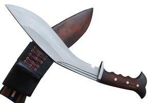 "12"" Full Angkhola Yugal Kukri - Hand Forged Full Tang Guard Handle khukuri Knife"