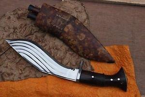 "12.5"" 5 Fullers kukri, Hand Forged Full Tang Farmer Blade, Nepal Khukuri Knife"