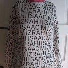 Isaac Mizrahi Logo Long Sleeve Lounge Sleep Shirt Jersey Womens M Black & White