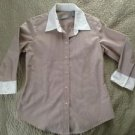 Liz Claiborne button up 3/4 sleeve top blouse shirt women's size s small