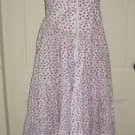 Vintage Betsey Johnson Maxi Full Swing Corset Lace Button Up dress Womens 4 USA