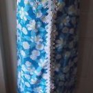"""Vintage """"The Lilly"""" Lilly Pulitzer Long Maxi Screenprinted Lace Skirt womens 8"""