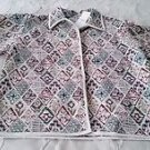 NWT Womens New Directions Tapestry Jacket Blazer Coat 100% cotton size Small
