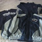 Lot of 3 New England Patriots Parka Fleece Jacket Crewneck Sweatershirt Mens L