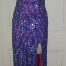 Precious Formals Slinky Cocktail Pageant Prom Long Maxi Beaded Sequins Dress S