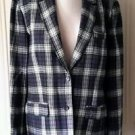 Pendleton Tartan Plaid 100% Wool blazer Jacket Womens size 10-12 Blue red green