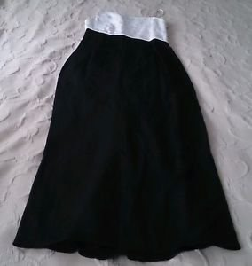 Scott McClintock off shoulder sleeveless w/train Formal white/black Dress 10 USA