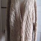 Vintage Liz Claiborne Oversized Boyfriend Cable Knit Cardigan Sweater Womens L