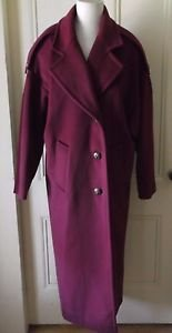 Womens Vintage 80s 7th Avenue Ivana Inc Worumbo Forstmann Top Dress Coat L USA