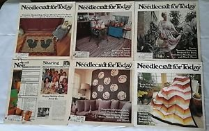 Vintage Lot of 5 1979/1980's Needlecraft for Today Magazines Patterns Articles
