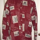 Vintage Ralph Lauren Fishing Boating Outdoor Button Up Long Sleeve Shirt Mens L