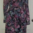 Vintage Laura Ashley Corduroy Tapestry Velvet Tea Garden Party Dress Womens sz 8