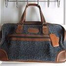 Pierre Cardin Overnight Weekender Suitcase Luggage Tweed Tapestry Carpet Bagger