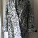 IJ Fox Swakara Broadtail Curly Persian Lamb Fur Wool Swing Coat Matching Hat Pin