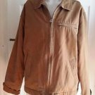 Abercrombie & Fitch Canvas Corduroy Fleece Lined Barn Work chore Jacket Mens L