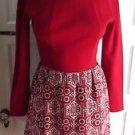 Vintage Lanz Originals 70s Mod Knit Sweater Dress Jumper Tapestry Skirt Womens S