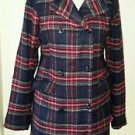 Element Double Breasted Tartan Scotch Plaid Lightweight Coat Jacket Womens sz M