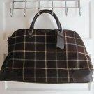 Hartmann Luxe Softside Plaid Cotton Canvas Weekender Duffel Bag Tote Suitcase