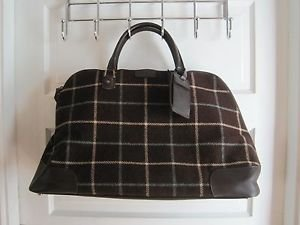 Hartmann Luxe Softside Plaid Cotton Canvas Weekender Duffel Bag Tote Suitcase