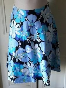 Citrine Beaded A Line Floral Cotton Skirt womens size 2