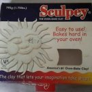 2002 Old Sculpey Oven Bake Modeling clay 1.75 lb partial box White Polyform 795g