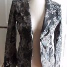 NWT Womens Dating Casual Vegan Faux Leather Animal Print Blazer Style Jacket S