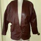 80's Kassini Batwing Dolman Sleeve Tuxedo Motorcycle Biker Dress Leather Jacket