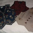 lot of 3 Womens Vests Tantrums Limited Ann Taylor Brocade Embroidered Tweed S
