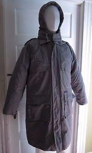 Vintage Sensors 3-in-1 Goose Down Winter Uniform Cargo Coat Parka Mens Gray