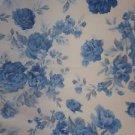 PMI Div Printmaker Int'l Sheer Organza Fabric 7 yds #7091 Shabby Blue Roses Chic