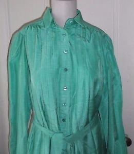 Vintage Schrader Sport NY Button Up Chintz Belted Sash Shirt Dress Womens sz 14