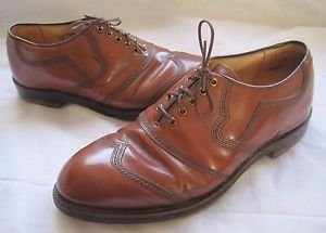 Vintage Bostonian Stress Relief Fine Golf Shoes Leather 9 Hardened Steel Spikes