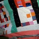 Homemade/Handmade by Bea Quilt Mod Colorblock Style Bird Applique/Signed Squares