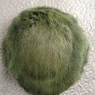 Vintage fur hat green faux? Women's calot?