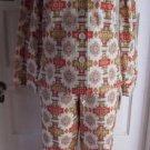 $149 Pendleton 2 Piece Flannel Indian Blanket Pajamas PJs Shirt Top Pants Set