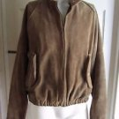 Vintage Polo Country Ralph Lauren Cafe Moto Leather Bomber Jacket Mens M Flannel