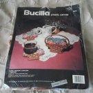 Vintage 1991 Bucilla 7 pc set Floral Bouquet Coasters Plastic Canvas Kit #6076