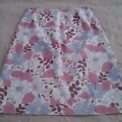 Boden 100% Cotton Aline Floral Print Skirt Womens sz 10 pastels pink blue Lined