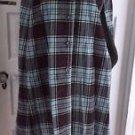 Vintage Courtaulds Courtelle Reversible Plaid Wool Cape & Skirt Set Outfit 24 XS