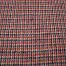 Vintage Woven Houndstooth Wool Small Plaid Checked Fabric Yardage 58 In x 3 yrds
