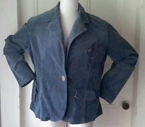 Mecca Femme Soft Cotton Corduroy Checked basic Jacket Blazer Womens size 2X