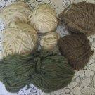 Lot Shaker Society Virgin Wool 2 Ply 4 ounces Yarn Skeins Knit Crochet Crafts